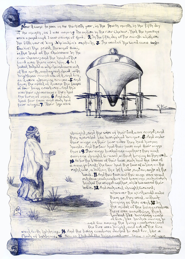 Urme ale extraterestrilor pe Pamant; Descoperiri inexplicabile (in cache) - Pagina 2 12-ezekiel1