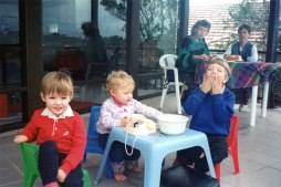 Morning tea after the 20yr High School Reunion (my 3rd son on left) Sept 1995.