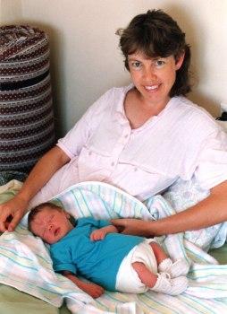 Birdie & her 1st child (son) Sept 1990.