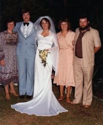 My wedding, Oct 1980.